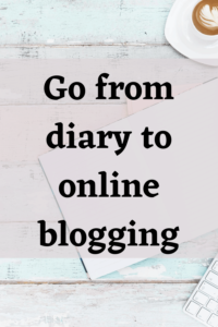 Go from diary to online blogging